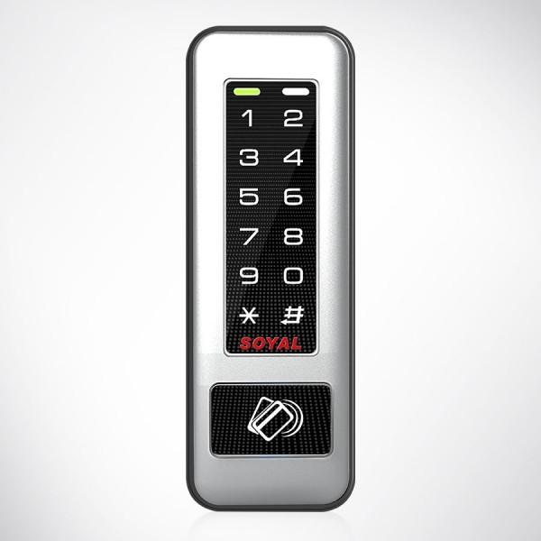 Unitate control acces cu cititor carduri proximitate si tastatura TOUCH pannel iluminat, 2LED