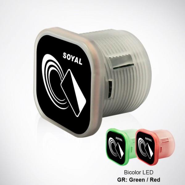 Mini unitate standalone control acces cu cititor carduri proximitate Mifare 13.56 MHz, distanta de citire 1-3cm