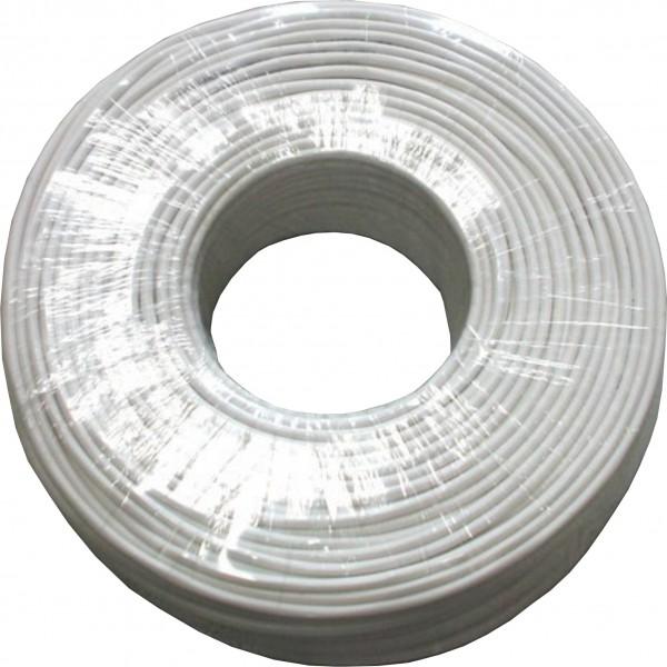 Cablu ecranat 2 x 0,22, PVC alb antiflacara
