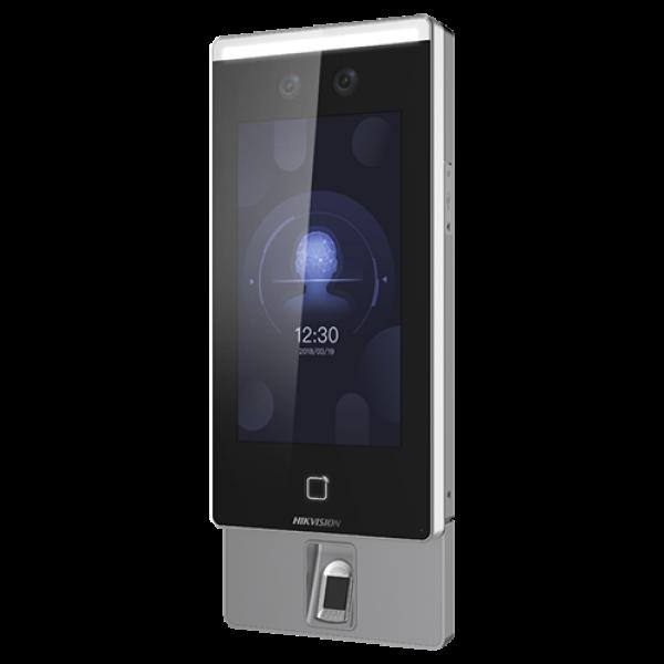 Terminal standalone IP de control acces si pontaj cu recunoastere faciala, amprenta si Card- HIKVISION DS-K1T671MF