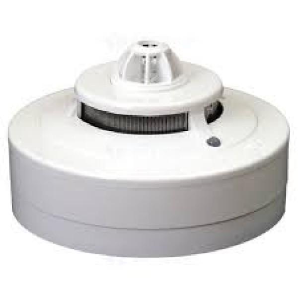 Detector analogic conventional de fum, crestere de temperatura, si alarma la temperatura fixa (57C)