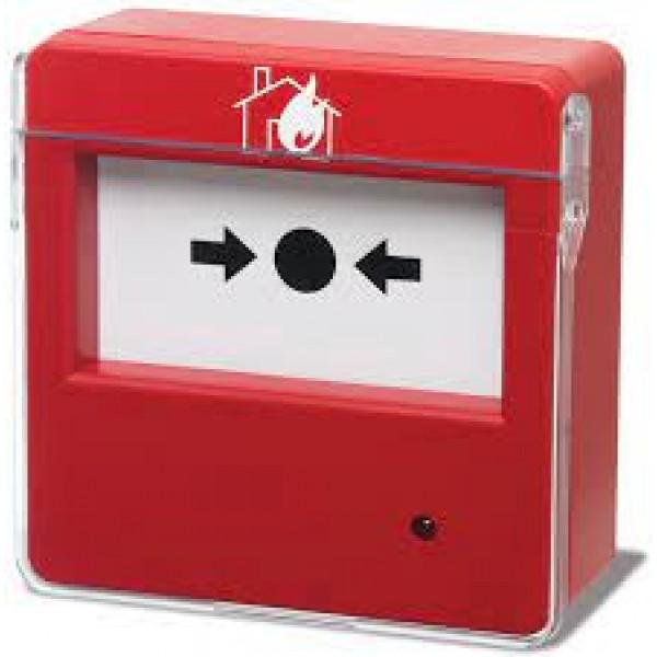 Buton de alarmare cu separator de plastic, cu revenire,LED semnalizare stare (Bentel)