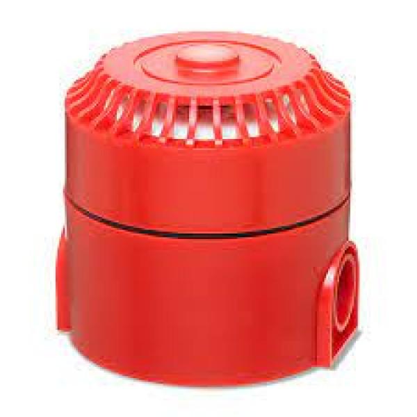 Sirenă de interior, carcasă roşie, 24V, multitonala
