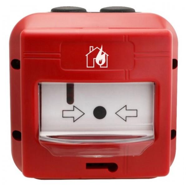 Buton avertizare incendiu adresabil, utilizare in EXTERIOR