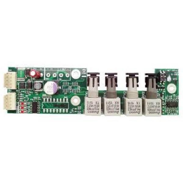 Interfata pentru legare centrala cu subpanel sau repetor pe fibra optica