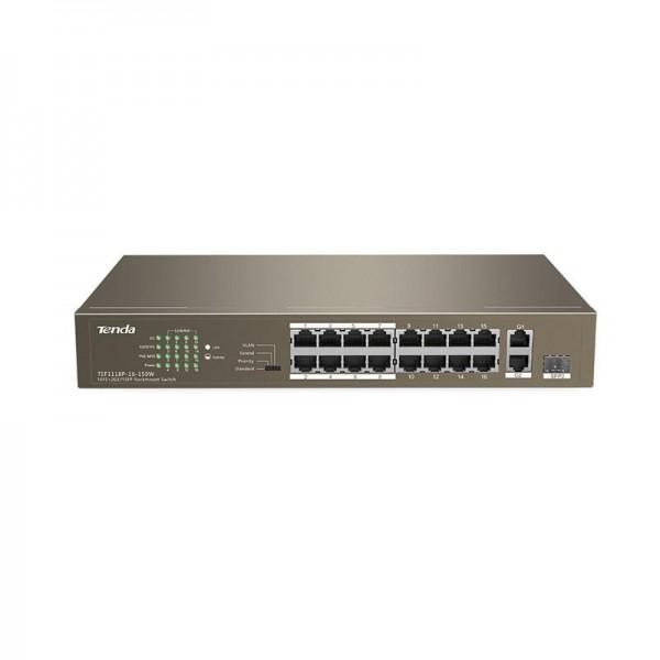 TENDA 16-PORT+2GB/1 SFP UNMNG POE SWITCH
