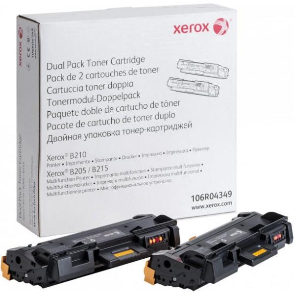 XEROX 106R04349 BLACK TONER CARTRIDGE X2