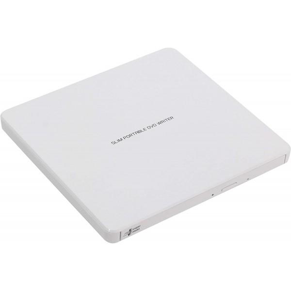 Ultra Slim Portable DVD-R Wht Hitachi-LG