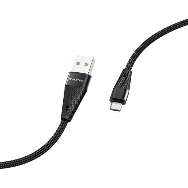Cablu MicroUSB Borofone BU10 BK