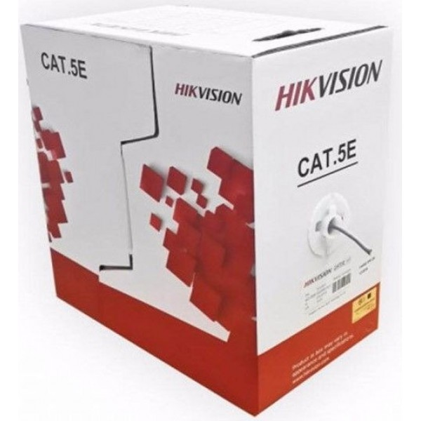 Cablu U/UTP cat. 5E Hikvision, DS-1LN5E-S, 4x24AWG, material cupru integral, ANSI/TIA-568-C.2 PVC, cutie 305 metri.