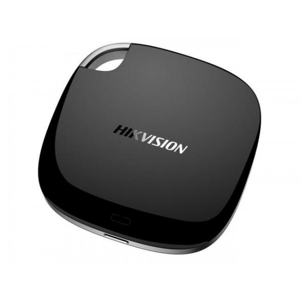 NAS portabil Hikvision; Capacitate SSD 120GB; Interfata Type-C 3.1 si USB 2.0; Slot SD card de maximum 128GB.