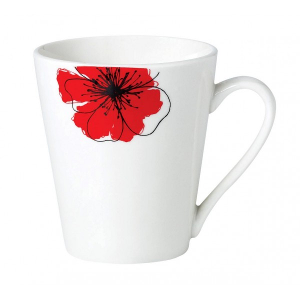 SET 12 CANI  310 ML, RED FLOWERS PETAL