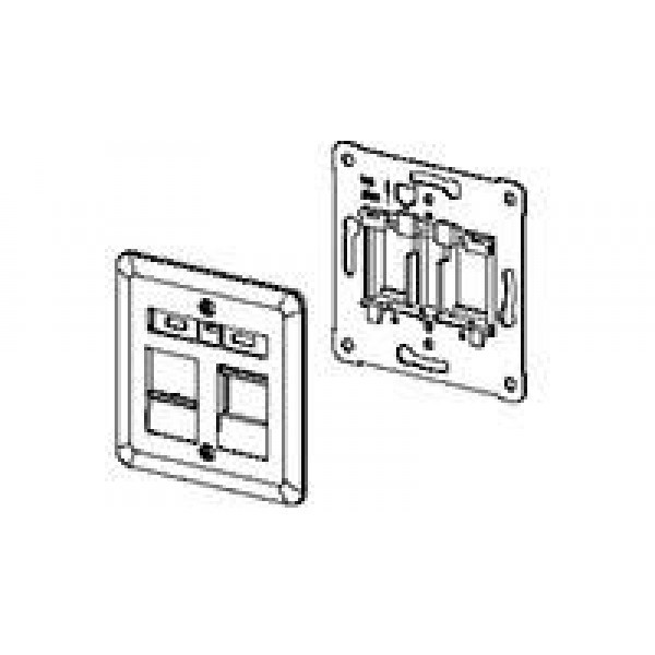 NET ACC WORK AREA OUTLETS/WHITE 2-966224-1 COMMSCOPE