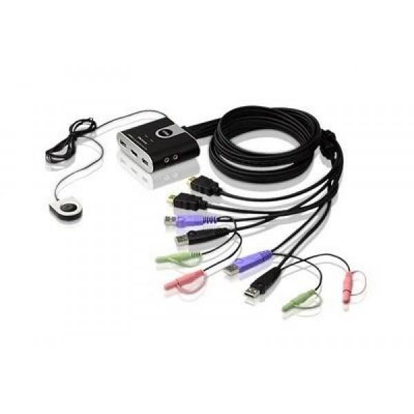 NET SWITCH KVM USB HD AUDIO//VIDEO 2PORT CS692-AT ATEN