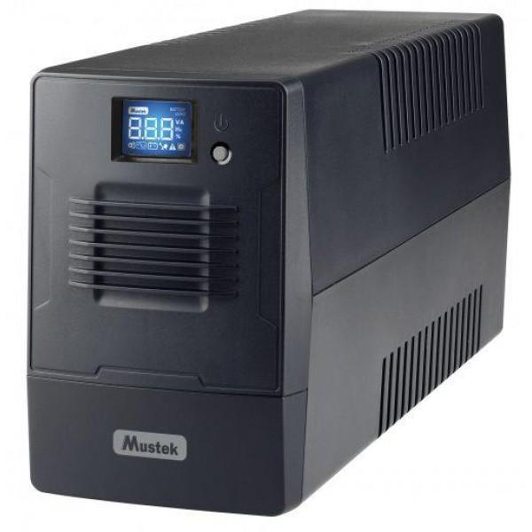 UPS 800VA POWERMUST 800/480W 800-LCD-LI-T20 MUSTEK