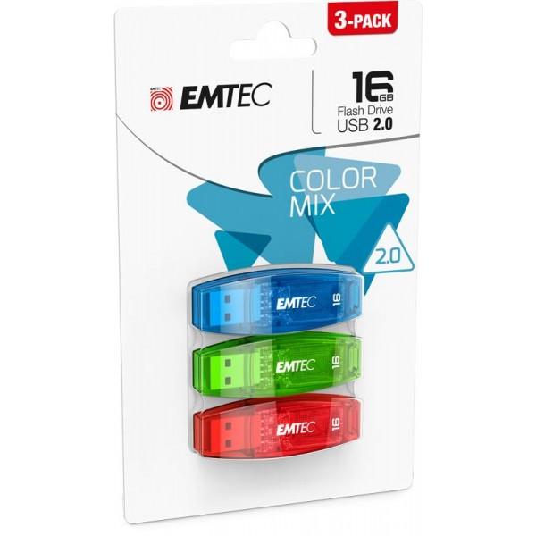 MEMORY DRIVE FLASH USB2 16GB/C410 ECMMD16GC410P3CB EMTEC