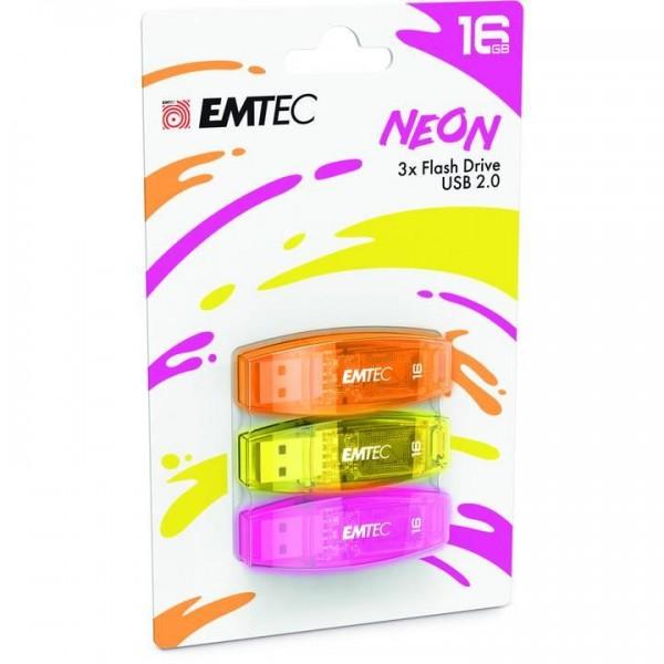MEMORY DRIVE FLASH USB2 16GB/C410 ECMMD16GC410P3NEO EMTEC