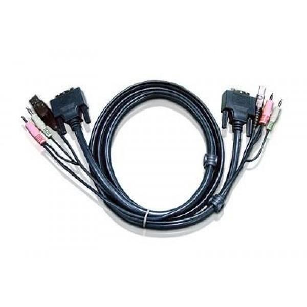 I/O ACC CABLE USB DVI KVM 1.8M/2L-7D02U ATEN