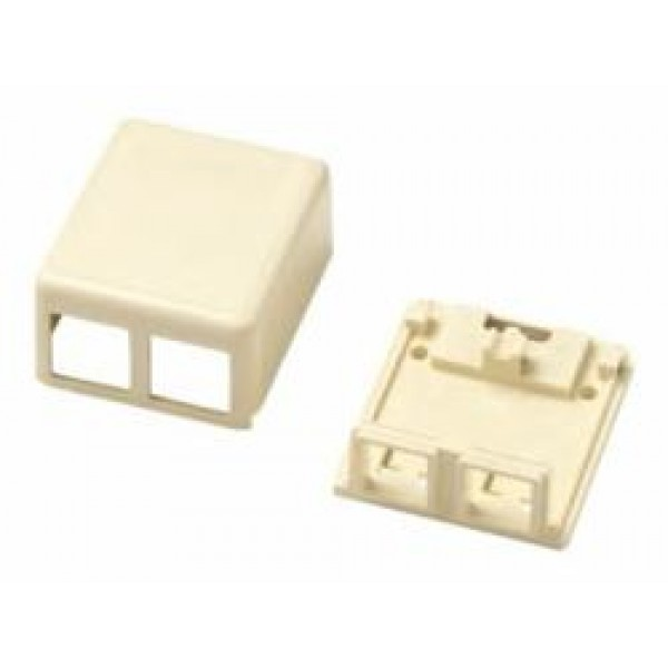 CABLE ACC JACK BOX 2P/WH. /110 1-1116698-3 COMMSCOPE