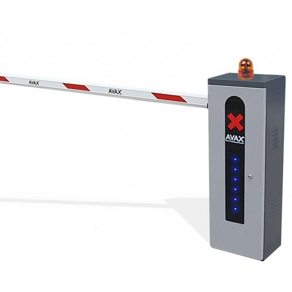 Kit bariera acces auto electromecanica, brat telescopic 6 metri, gri, AVAX