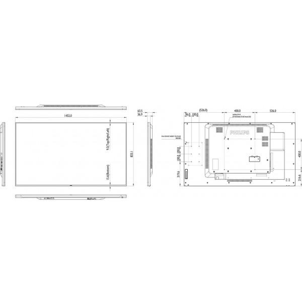 "Ecran profesional Philips D-Line 65"""