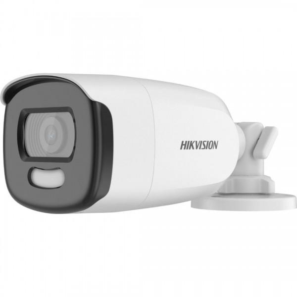 Camera de supraveghere AHD Bullet, 5MP, IR , 2.8mm, Lumina alba 40m, ColorVU, Hikvision DS-2CE12HFT-F28
