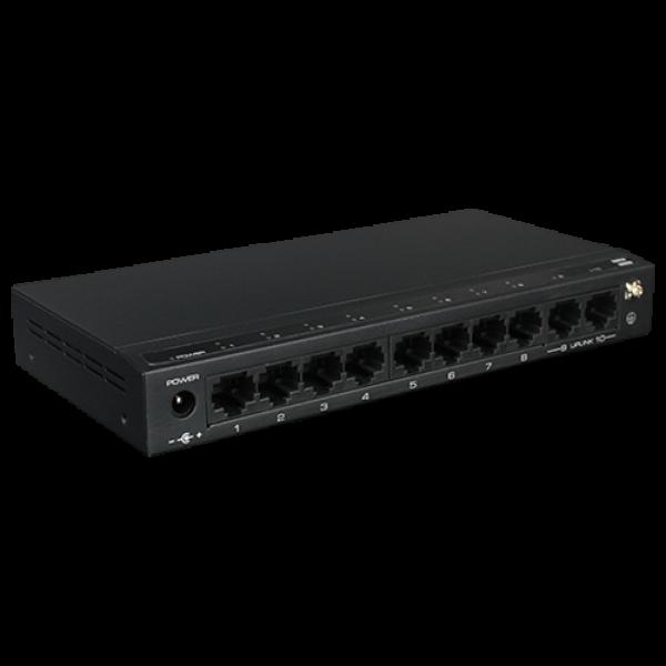 Switch 8 porturi PoE, 2 port uplink, 120W - UTEPO SF10P-FHM