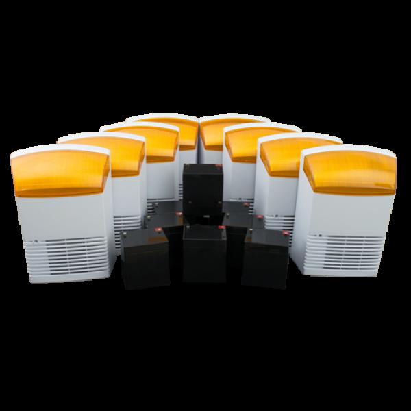 KIT 8 sirene de exterior + 8 acumulatori 12V, 4Ah BS1X8+8AC
