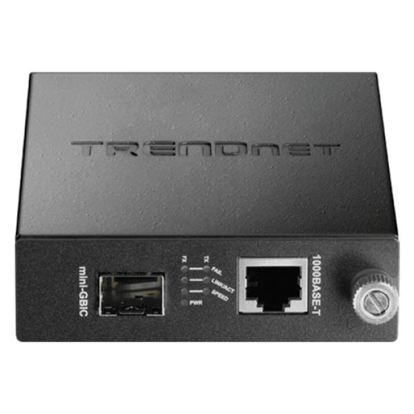 Mediaconvertor Gigabit - SFP fibra optica (pt TFC-1600) - TRENDnet TFC-1000MGA