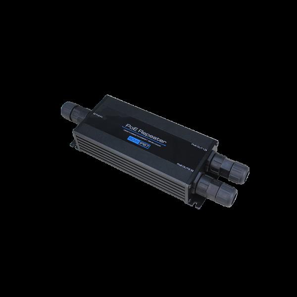 Repetor Gigabit Ethernet POE 60W - 802.3BT - 1 IN, 2 OUT rezistent la apa si praf - IP67