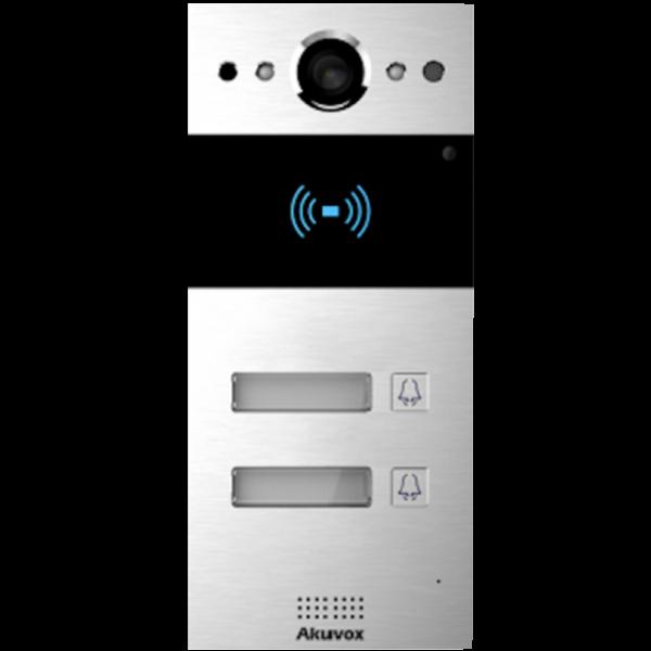 Video interfon IP SIP, post de apel cu 2  butoane