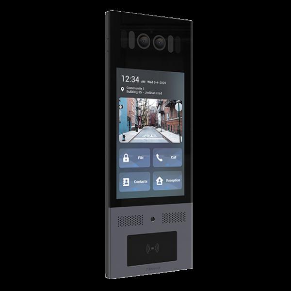 "Video interfon IP SIP, post de apel cu ecran touchscreen de 8"",  Android, WiFi, bluetooth, recunoastere faciala, NFC, cod QR"