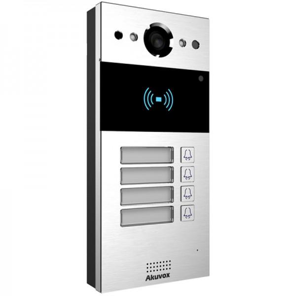 Video interfon IP SIP, post de apel cu 4  butoane