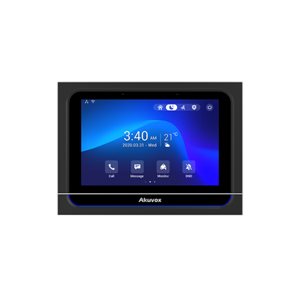"""Video interfon IP SIP, monitor 7"""", Voice Assistant, Android 9.0,  WiFi, bluetooth, alarma, alimentare POE"""