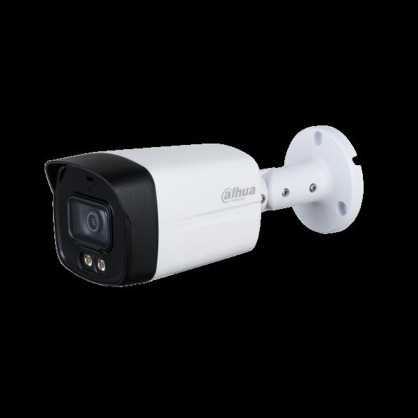 Camera de supraveghere HDCVI Bullet, 2MP, 3.6mm, Lumina alba 40m, Dahua HAC-HFW1239TLM-A-LED-0360B-S2