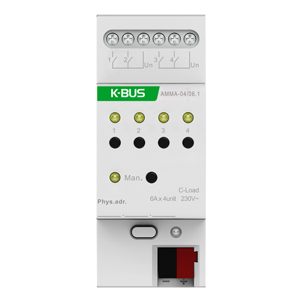Actuator multifunctional, 4 canale - actuator/jaluzele/ventilator - 6A