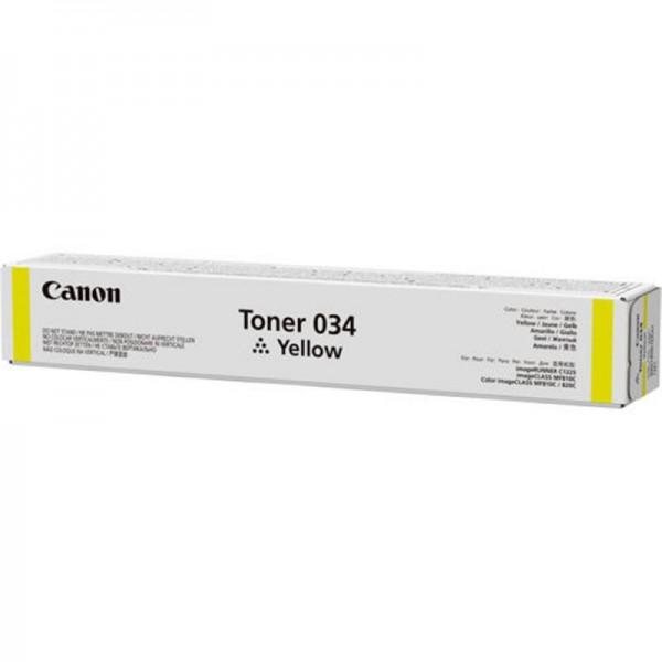 CANON 034Y YELLOW TONER CARTRIDGE