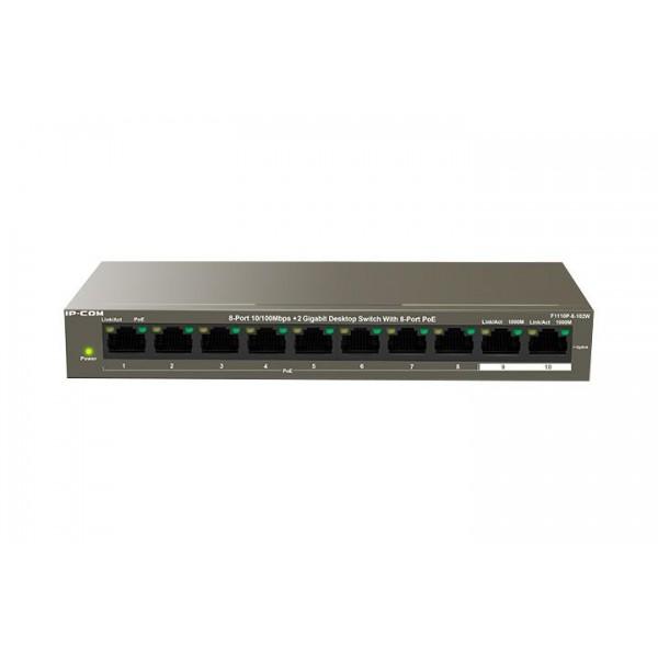 IP-COM 8-PORT POE SWITCH F1110P-8-102W
