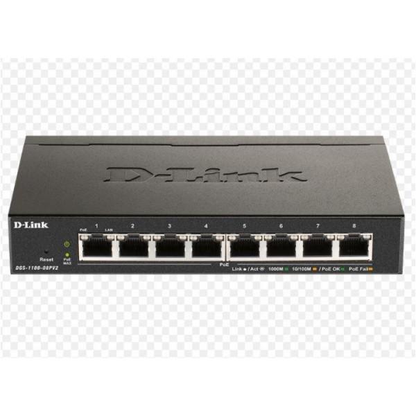 DLINK SW 8P-GB EASY-SMART DESK V2