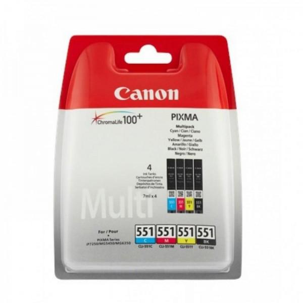 CANON CLI-551CMYB INKJET PACK CARTRIDGES
