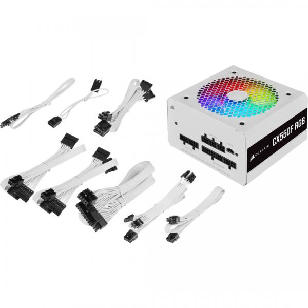 CR PSU CX550F RGB White 550W 80+ Bronze