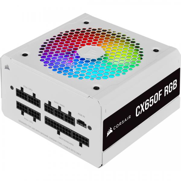 CR PSU CX650F RGB White 650W 80+ Bronze