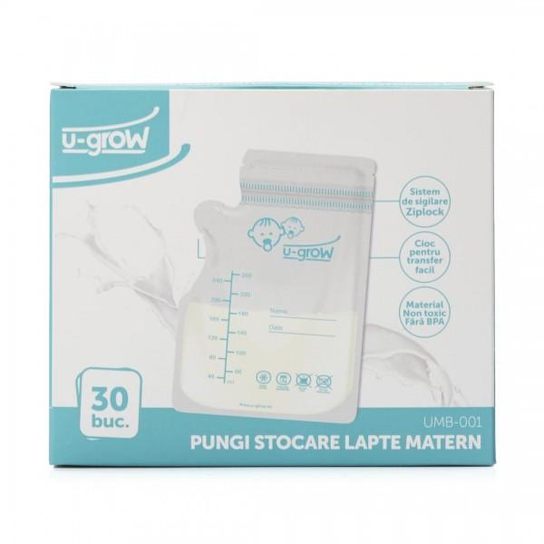 Pungi stocare lapte matern 30buc UMB-001