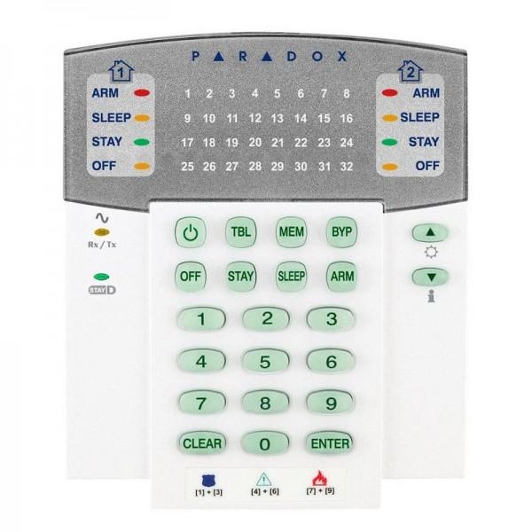 Tastatura wireless LED 32 zone Paradox K32RF - gss.ro