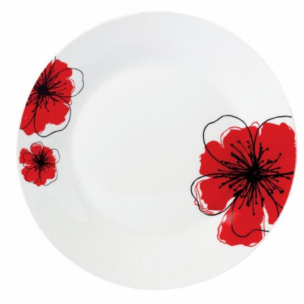 FARFURIE DESERT  PORTEL.19CM, RED FLOWER