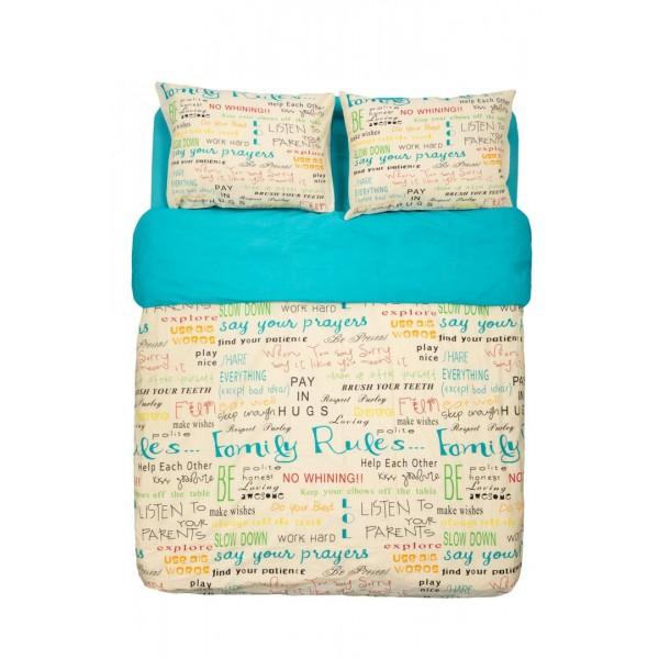 King size Bed Set 4 PCS, Family
