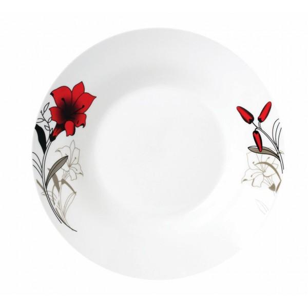 FARFURIE ADANCA PORT. 20CM, RED FLOWERS