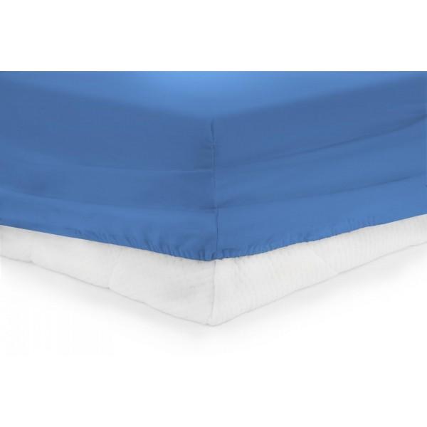 CEARCEAF PAT CU ELASTIC 140X200 CM -BLUE