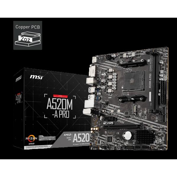 MB AMD MSI AM4 A520M-A PRO