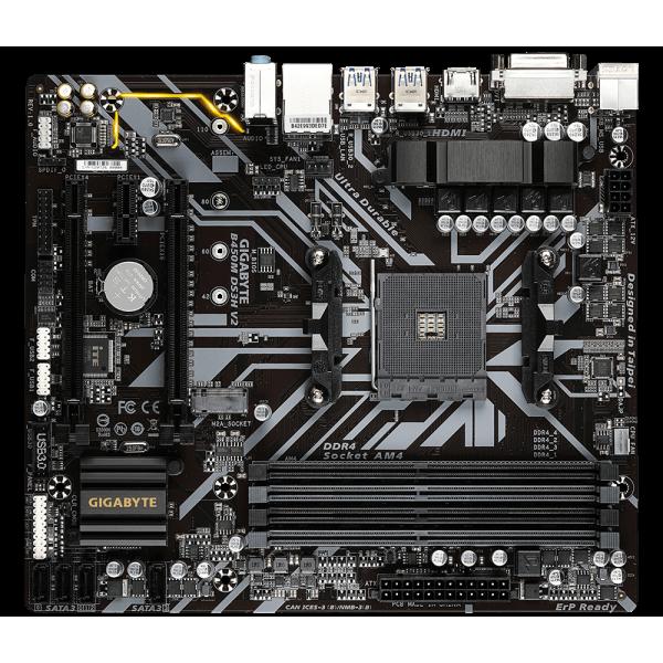 MB AMD B450 GIGABYTE B450M-DS3H V2
